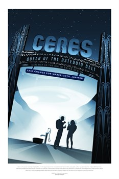 НАСА Космические путешествия, Церера (NASA Space Travel Posters, Ceres) - фото 10042