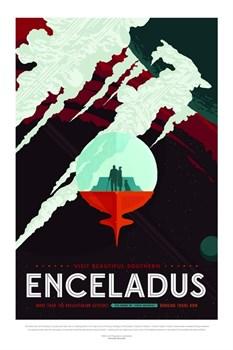 НАСА Космические путешествия, Энцелад (NASA Space Travel Posters, Enceladus) - фото 10046