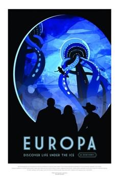 НАСА Космические путешествия, Европа (NASA Space Travel Posters, Europa) - фото 10048
