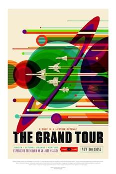 НАСА Космические путешествия, Большое Путешествие (NASA Space Travel Posters, Grand Tour) - фото 10050