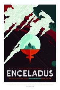 НАСА Космические путешествия, Энцелад (NASA Space Travel Posters, Enceladus)