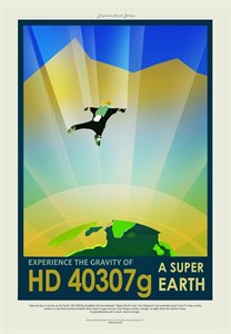 НАСА Космические путешествия, Супер Земля (NASA Space Travel Posters, hd4037g)