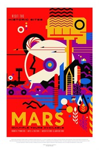 НАСА Космические путешествия, Марс (NASA Space Travel Posters, Mars)